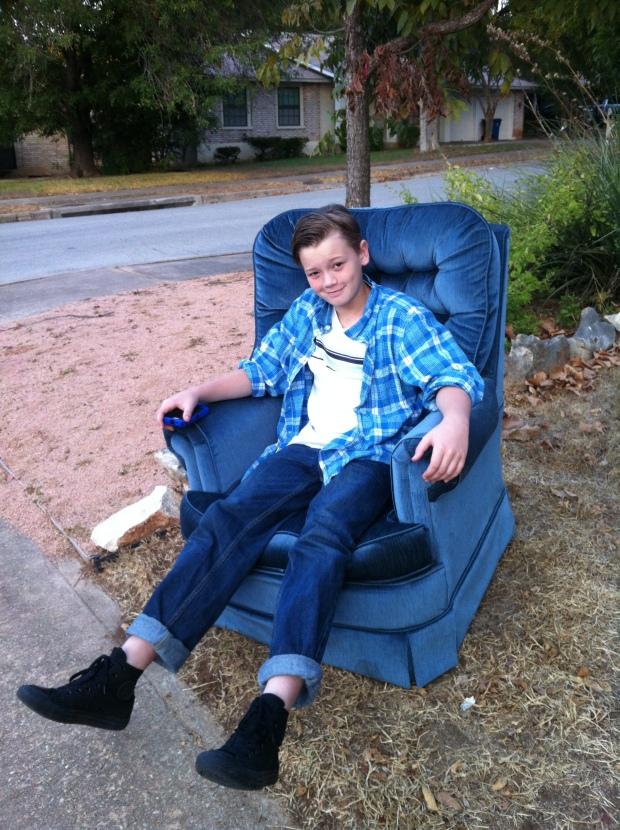 boy in a chair